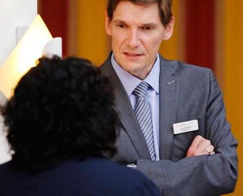 Anwenderforum simus classmate 2016: Herr Dr. Michelis im Gespräch