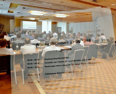 Anwenderforum simus classmate 2016: Forum