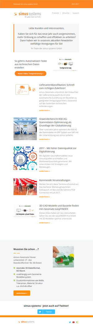 Newsletter simus systems